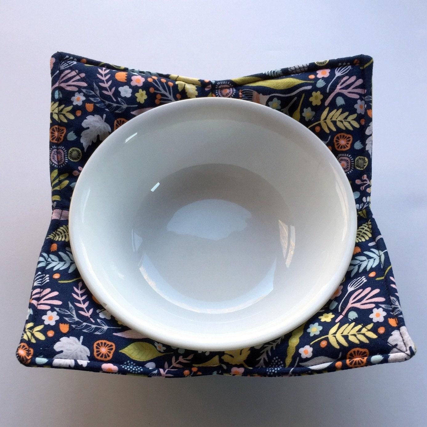 Bowl Pot Holder: Flower Kitchen Utensil Pot Holder Microwave Bowl Cozy
