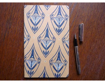 Hand-printed notebook - white pages