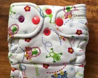 Newborn Fitted Cloth Diaper with Inserts