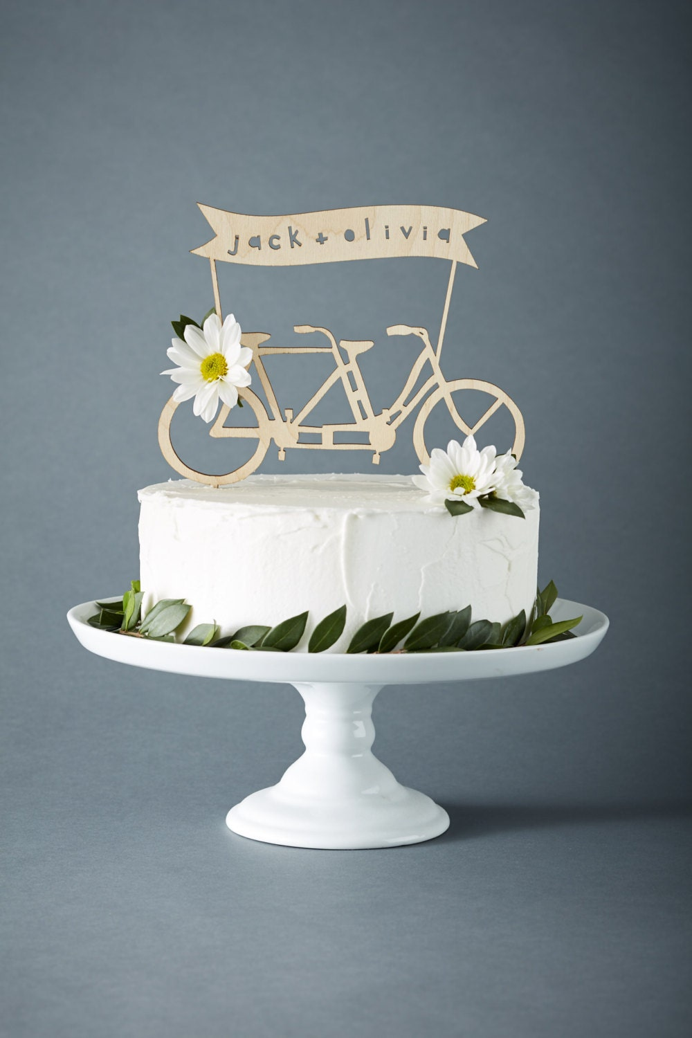 bicycle wedding cake topper uk custom wedding cake topper tandem bike wedding cake topper 11736