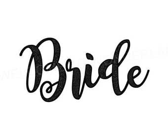 DIY BRIDE Bridal Party Wedding T shirt Glitter Iron On Sparkle Decal Custom Color