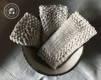 Knit & Crochet Washcloths, Set of 10