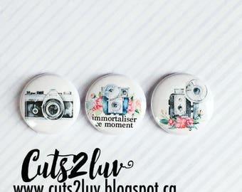 "3 Badges 1"" Caméra"