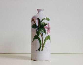 Ceramic Italian bottle vase.