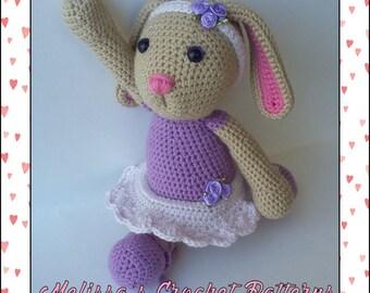 Ready to Ship - Crocheted Blossom the Ballerina Bunny