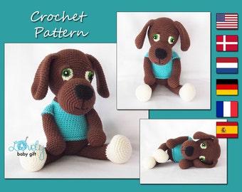 Puppy Crochet Pattern, Amigurumi  Pattern, Brown Dog, Animal Pattern, CP-144