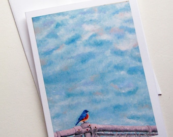 Eastern Bluebird Art Greeting Card