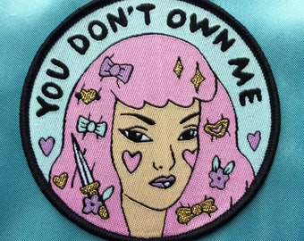 You don't own me sew on patch - Lovestruck prints