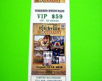 """500 Custom Printed Tickets - Event, Concert, Raffle, Drawing - 2.75"""" x 8.5"""", Numbered with Perforated Stub"""