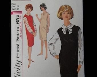Uncut 60s jumper dress pattern Simplicity 5113 Size 14