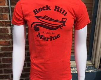 Rock Hill Marine Vintage Red Tagless Tee T-shirt