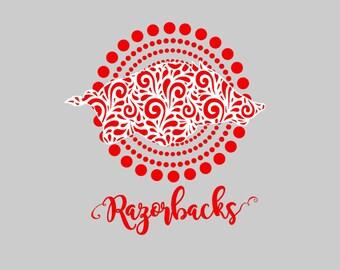 Arkansas Razorbacks 2 layered cutting file SVG Studio Eps Pdf PNG