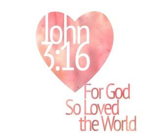 John 3:16 Art