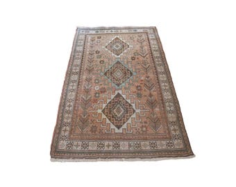 Antique 3'9 x 6'1 Kilim Hand Knotted Wool Rug
