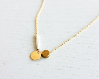 IN PLAY NO. 4 | delicate necklace, gold necklace, thin chain, geometric, short necklace, minimalist, circle necklace, line necklace |