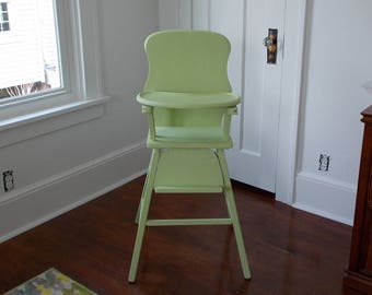 Vintage-Wooden Lehman High Chair at Ancient of Daze