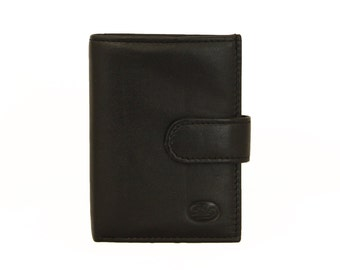 Credit Card Wallet Business Card Holder Brown Genuine Handmade Leather (999)