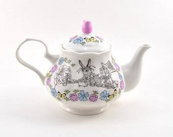 Mad Hatter's Bone China Teapot