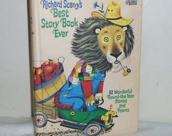 1968 Richard Scarry's Best Story Book Ever HC Golden Press Golden Book 82 Stories & Poems