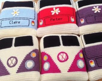 Crochet vw camper van cushion