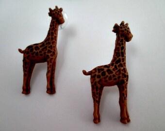 Giraffe Accessories Jewelry Women's Jewelry Earrings Animal Earrings in Handmade Fashion Earrings Children's Earrings Earings Zoo