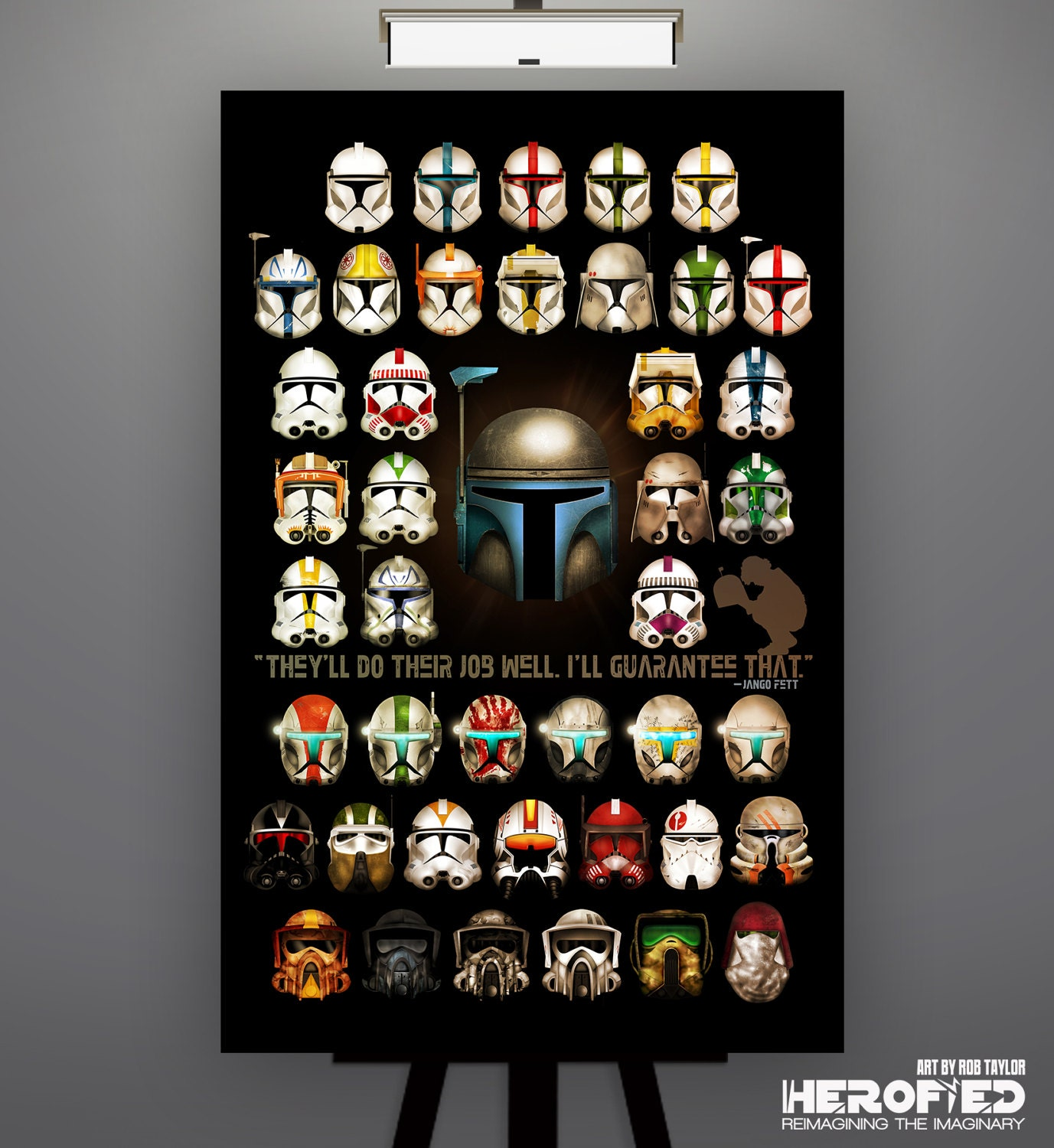 star wars inspired clone trooper composite 11x17