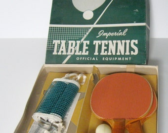 Vintage Imperial Table Tennis Tabletop Set, Ping Pong