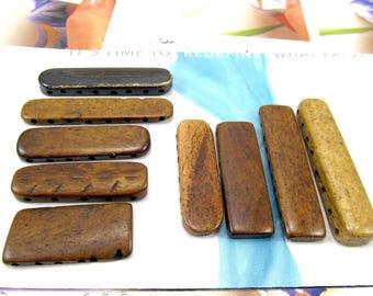 5, 6 & 8 Hole Bone Separator Bars, Bone Divider Bars, Brown Bone Necklace Spacer, Bracelet Separator, 4 and 5 Pc Sets 03193