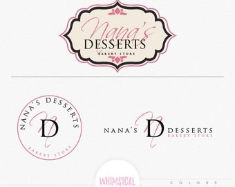 Bakery Store Sticker 2 - Bakery Sign - Simple Elegant Sticker design - bakery branding kit, initials, stickers, circle logo and for sign