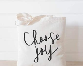 Choose Joy Cotton Tote