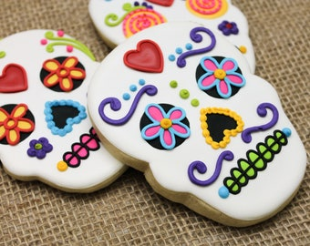Dia de los Muertos Day of the Dead Inspired Cookies