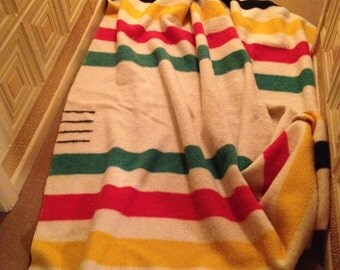 HUDSON BAY, 4 Point Wool Trading Blanket