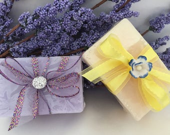 Shea Butter Hand Made Soap  with Lavender Flower Buds