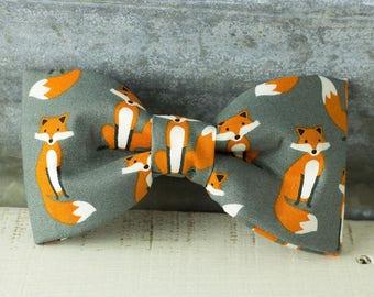 Fox Bow Tie - Dog Collar Bow-Tie Accessory
