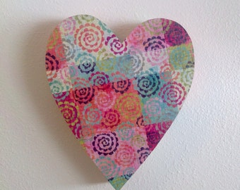 Upcycled cardboard heart