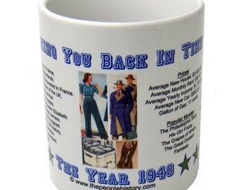 1940 Taking You Back In Time Coffee Mug