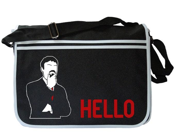 Ashens Classic HELLO Figure Black Messenger Shoulder Bag