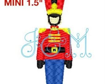 "1.5"" Mini TIn Toy Soldier Embroidery Design"