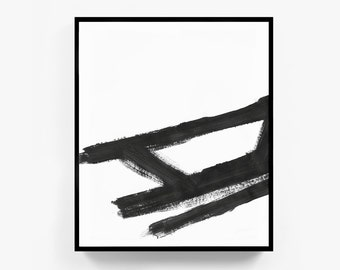 Large Prints, Large Art, Abstract Prints, Large Black and White Art, Abstract Paintings, Large Wall Decor, Framed Artwork, Justin Page Wood