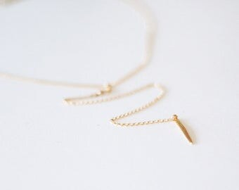 Colette - Gold Spike Y-Necklace