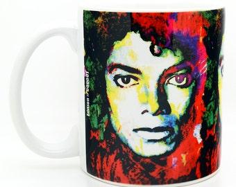 Michael Jackson coffee mug unique 11 oz ceramic cups - mjs1 - Living descendant of Cy Young the baseball legend