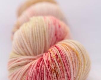 Hand-dyed yarn - sock yarn - superwash - merino - dyed-to-order - speckles - BELLA