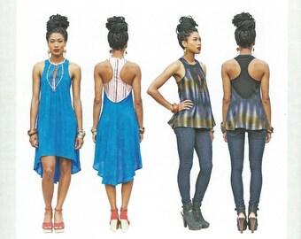Asymmetrical Dress or Tunic Sewing Pattern - Intermediate - sizes 2 - 16