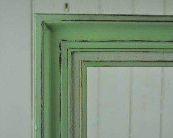 Reloved timber frame painted in mint