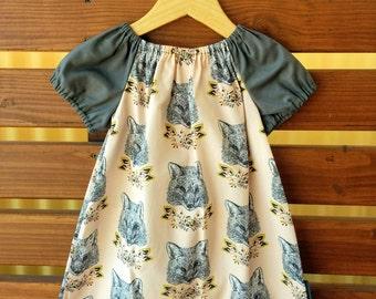 Girls Peasant Style Dress. Foxy Loxy. Size 2 and 3