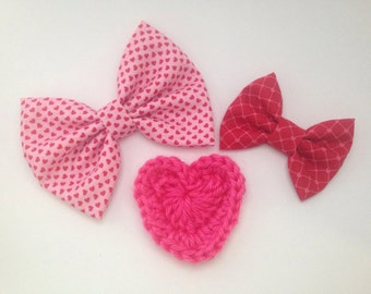 February Bow Set - Valentine's Day Theme