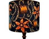 African Boho Nursery lampshade, Floral Drum Lamp shade, Back To School, Dorm Room Decor, 25cm table lampshade, Detola And Geek
