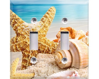 Starfish Double Light Switch Cover