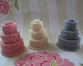 Scented Wax Melts - Wedding Cake Shape Scented  WaxTart Melts- Party Favor -