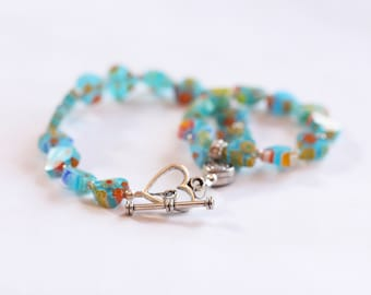 gifts for little girls / easter basket matching bracelets for girls american girl dolls / 18 inch doll jewelry / big sister gift #1079